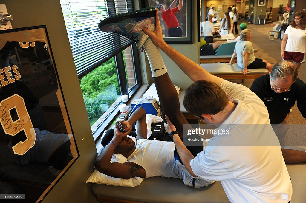 NBA draft prospect Nerlens Noel works on rehab at St Vincent's on Tuesday May 21, 2013 in Birmingham, Alabama.