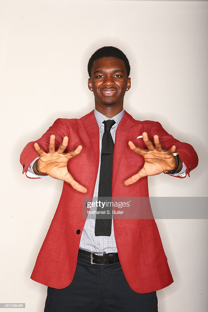 NBA Draft Prospect <a gi-track='captionPersonalityLinkClicked' href=/galleries/search?phrase=Noah+Vonleh&family=editorial&specificpeople=9612442 ng-click='$event.stopPropagation()'>Noah Vonleh</a>, poses for portraits during media availability as part of the 2014 NBA Draft on June 25, 2014 at the Westin Times Square in New York City.