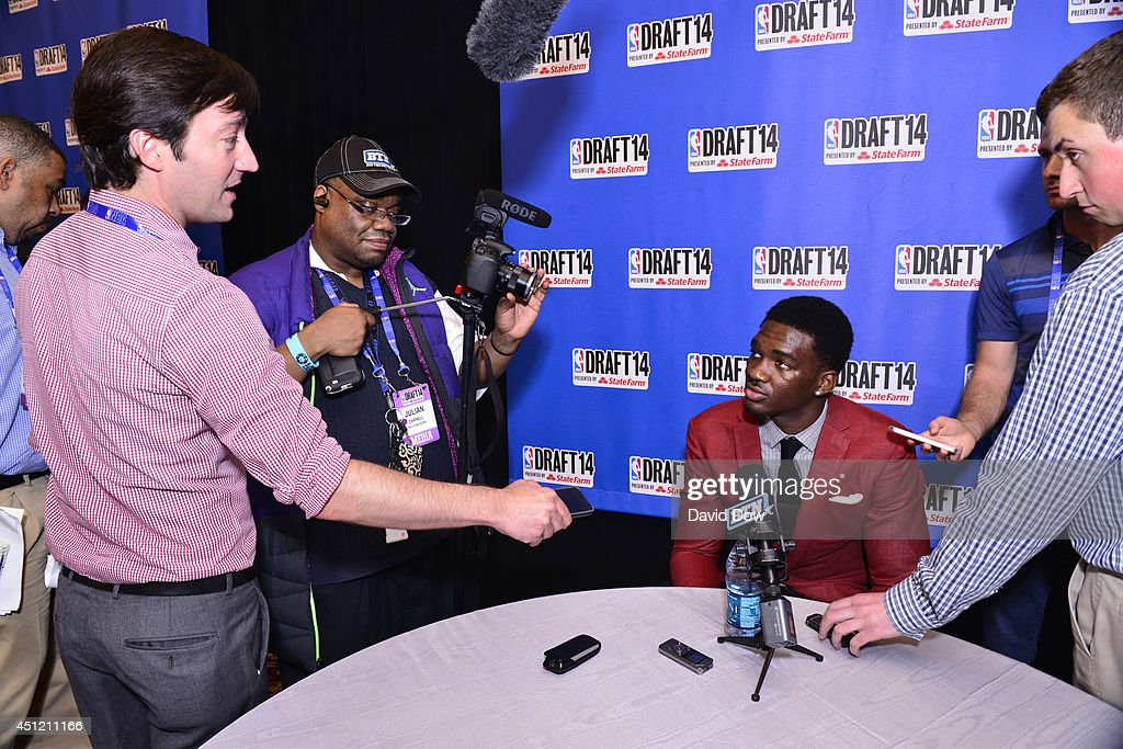 NBA Draft Prospect Noah Vonleh, speaks to the media during media availability as part of the 2014 NBA Draft on June 25, 2014 at the Westin Times Square in New York City.