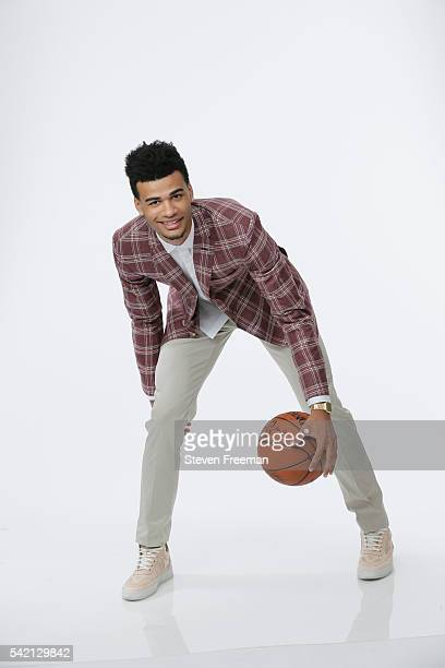 Draft Prospect Timothe LuwawuCabarrot poses for portraits during media availability and circuit as part of the 2016 NBA Draft on June 22 2016 at the...