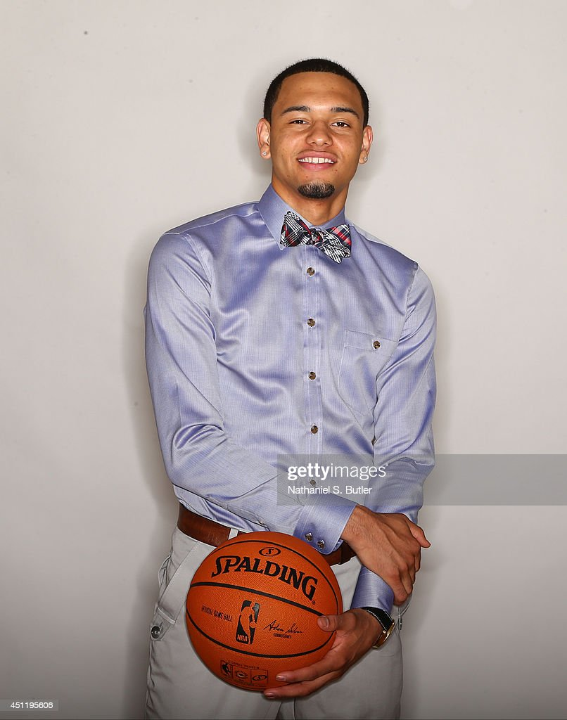 NBA Draft Prospect Tyler Ennis, poses for portraits during media availability as part of the 2014 NBA Draft on June 25, 2014 at the Westin Times Square in New York City.