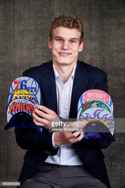 Draft prospects Lauri Markkanen poses for portraits prior to the 2017 NBA Draft Lottery at the NBA Headquarters in New York New York NOTE TO USER...