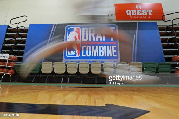 Draft Prospects participate in the threequartercourt sprint during the NBA Draft Combine at the Quest Multisport Center on May 11 2017 in Chicago...