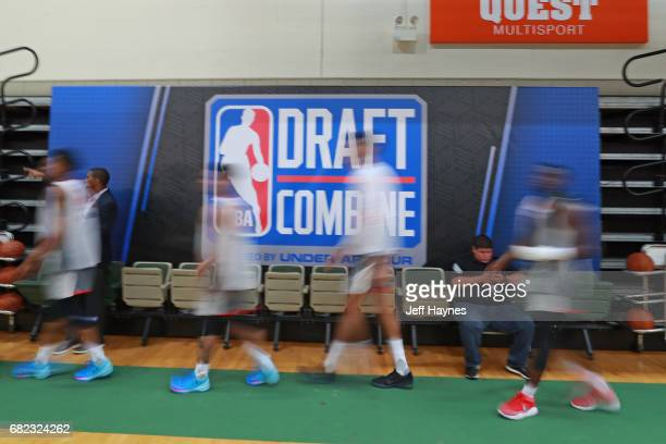 Draft Prospects walk in prior to the NBA Draft Combine at the Quest Multisport Center on May 11 2017 in Chicago Illinois NOTE TO USER User expressly...