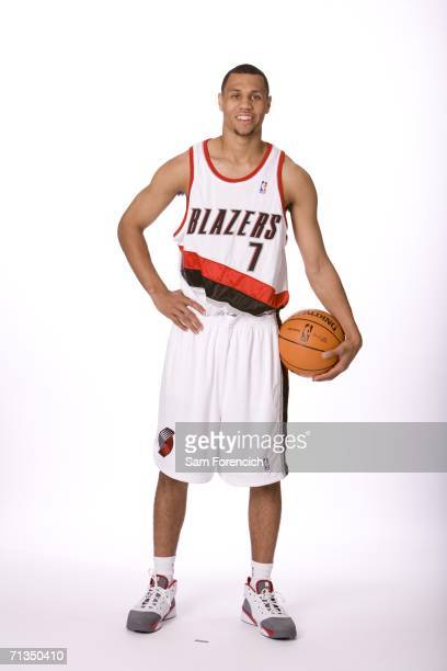 NBA draft selection Brandon Roy acquired by the Portland Trail Blazers poses for a photo June 28 2006 at the Rose Garden Arena in Portland Oregon...