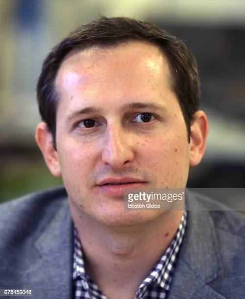 DraftKings cofounder Jason Robins is pictured at the company's Boston office on Apr 24 2017 The three cofounders of DraftKings are marking the...