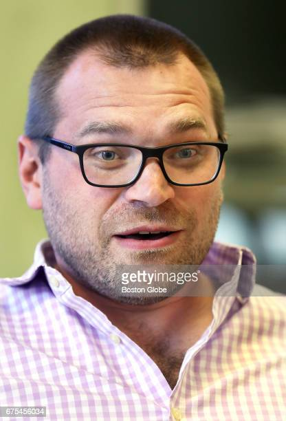 DraftKings cofounder Matt Kalish is pictured at the company's Boston office on Apr 24 2017 The three cofounders of DraftKings are marking the...