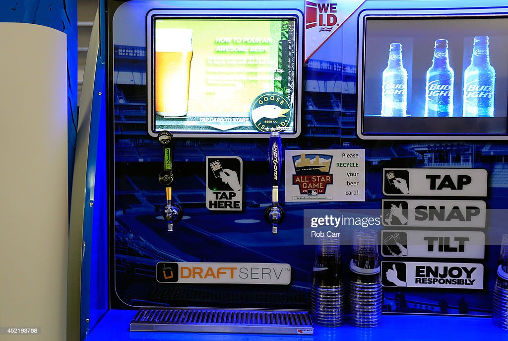 A DraftServ beer machine is seen prior to the 85th MLB All-Star Game at Target Field on July 15, 2014 in Minneapolis, Minnesota.