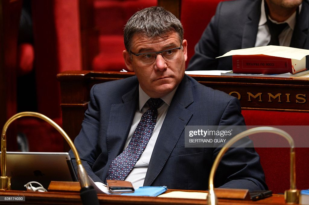 Draftsman of the French national assembly commission for Economic and Social Affairs Christophe Sirugue attends a debate on the controversial labour reform bill at the French National Assembly in Paris, on May 4, 2016. French government says the bill is designed to unlock France's rigid labour market and cut stubbornly high unemployment of around 10 percent -- the issue that has dogged Socialist President Francois Hollande's four years in power.