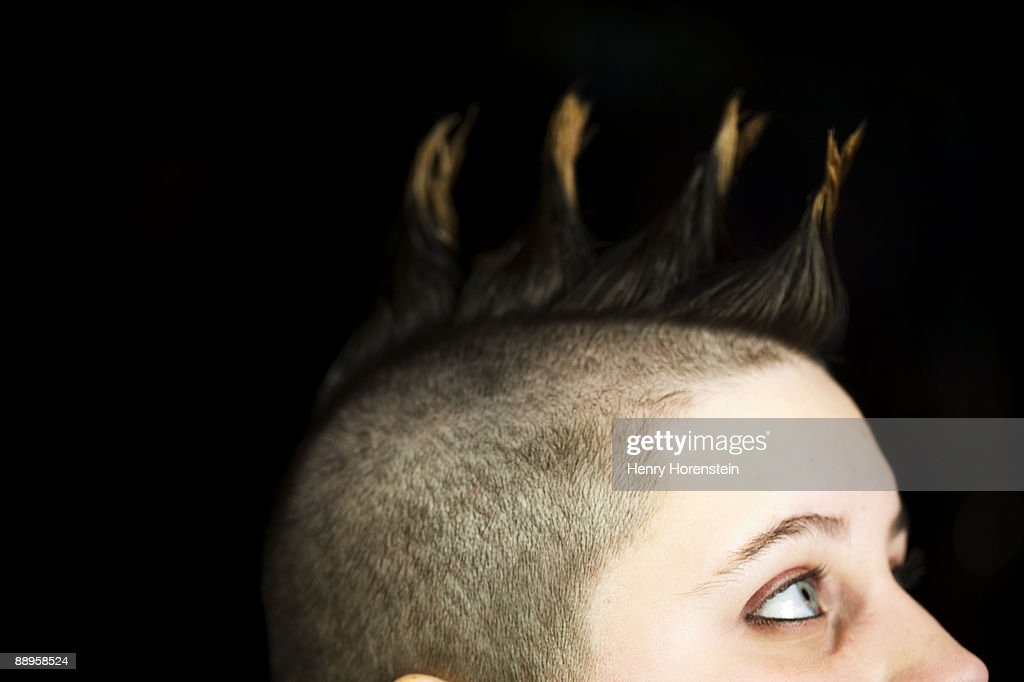 Drag Performer with Mohawk : Stock Photo