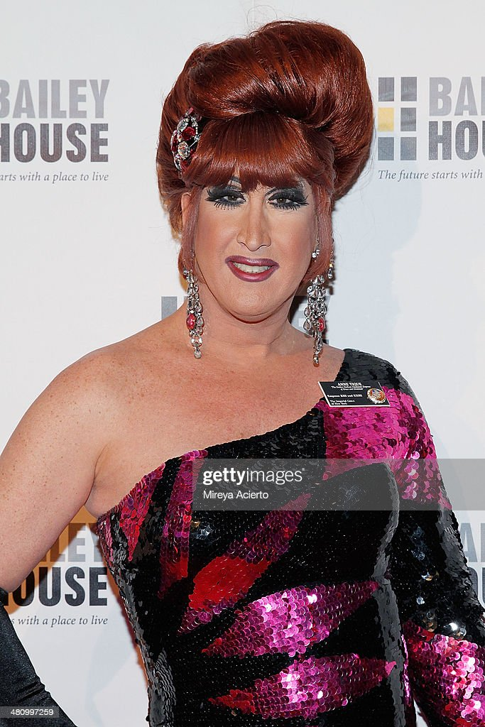 Drag queen Ann Tique attends Bailey House's 2014 Gala & Auction at Pier 60 on March 27, 2014 in New York City.