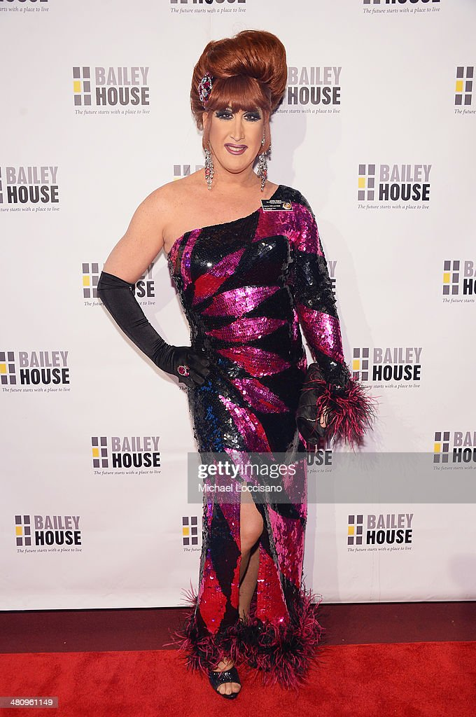 Drag queen Ann Tique attends the Bailey House's 2014 Gala & Auction at Pier 60 on March 27, 2014 in New York City.