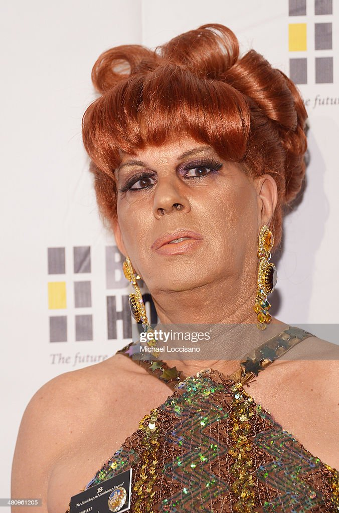 Drag queen B attends the Bailey House's 2014 Gala & Auction at Pier 60 on March 27, 2014 in New York City.