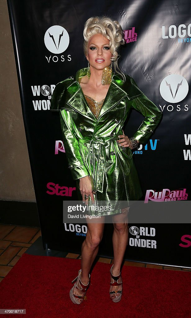 Drag queen Courtney Act attends the 'RuPaul's Drag Race' Season 6 premiere party at The Roosevelt Hotel on February 17 2014 in Hollywood California