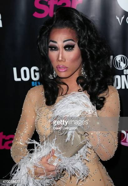 Drag queen Gia Gunn attends the 'RuPaul's Drag Race' Season 6 premiere party at The Roosevelt Hotel on February 17 2014 in Hollywood California
