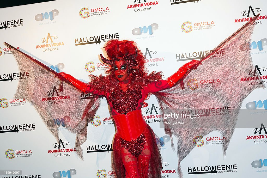 Drag queen Glen Alan attends Fred and Jason's 8th Annual 'Halloweenie' Holiday Concert By The Gay Men's Chorus of Los Angeles at Los Angeles Theatre on October 25, 2013 in Los Angeles, California.