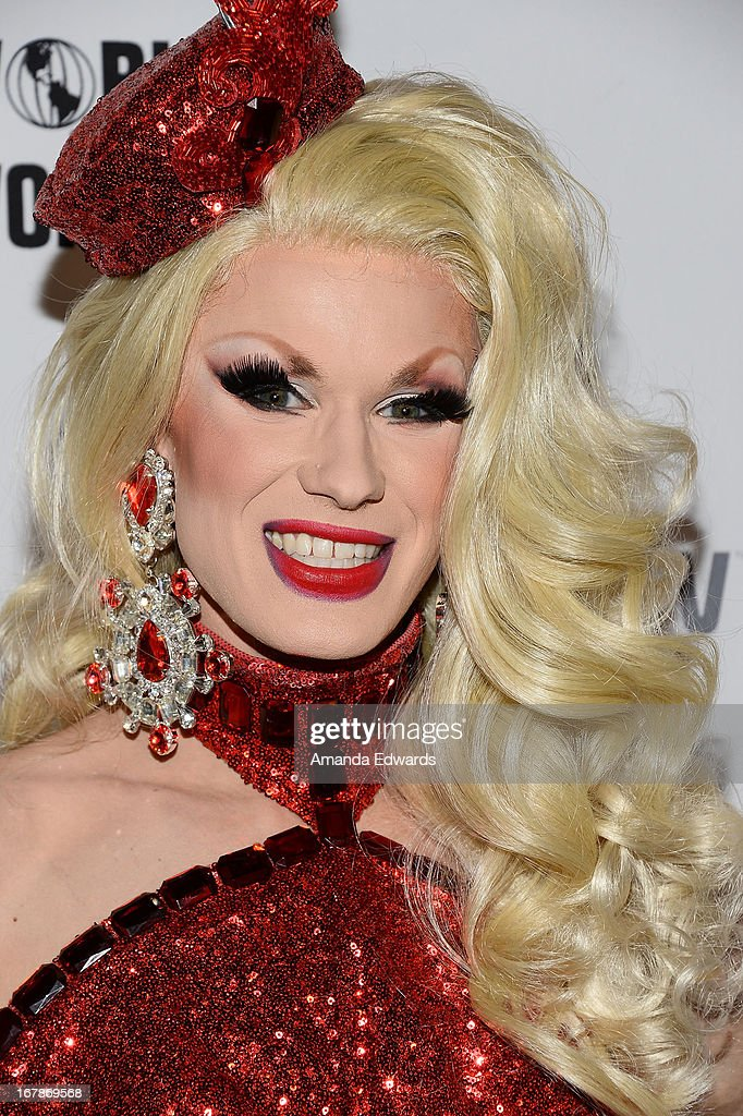 Drag queen Ivy Winters arrives at 'Rupaul's Drag Race' Season 5 Finale, Reunion & Coronation Taping on May 1, 2013 in North Hollywood, California.