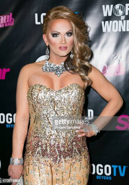 Drag queen Joslyn Fox attends Logo's 'RuPaul's Drag Race' season 6 premiere party at Hollywood Roosevelt Hotel on February 17 2014 in Hollywood...