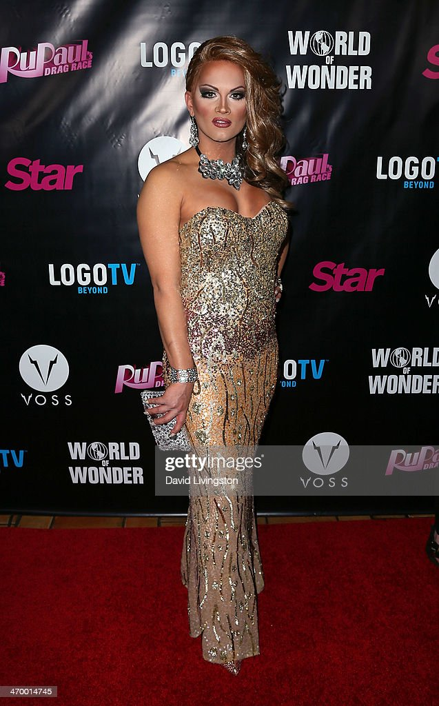 Drag queen Joslyn Fox attends the 'RuPaul's Drag Race' Season 6 premiere party at The Roosevelt Hotel on February 17 2014 in Hollywood California