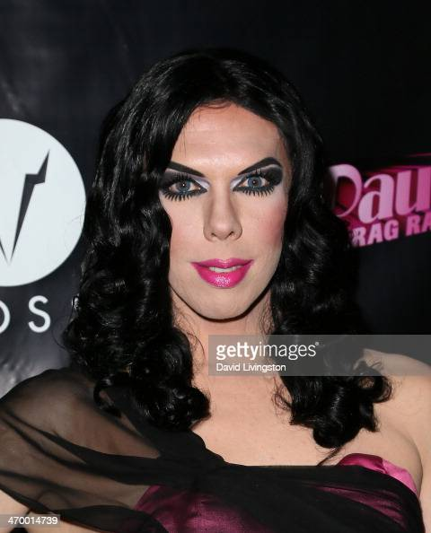 Drag queen Kelly Mantle attends the 'RuPaul's Drag Race' Season 6 premiere party at The Roosevelt Hotel on February 17 2014 in Hollywood California