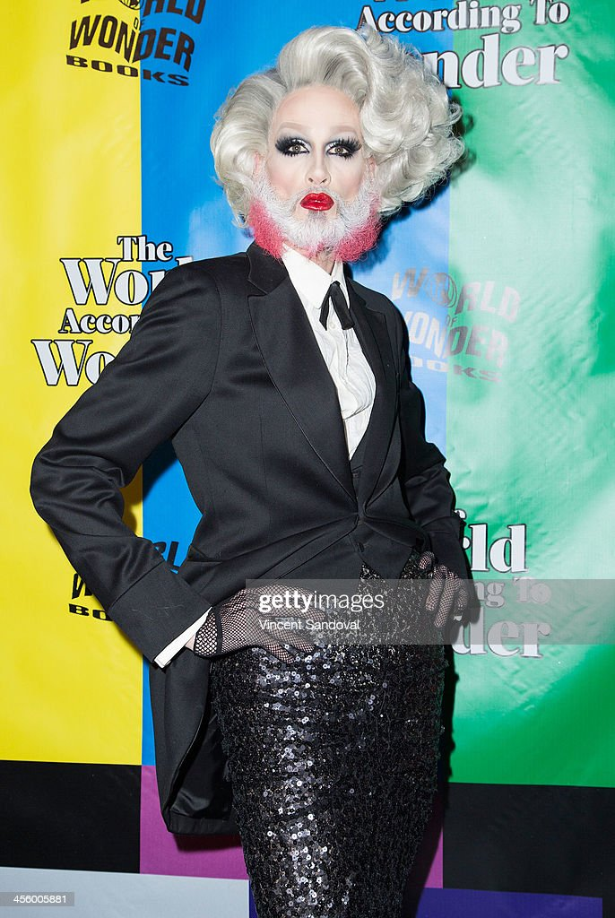 Drag queen Mathu Andersen attends the World of Wonder's 1st Annual WOWie Awards at The Globe Theatre on December 12, 2013 in Universal City, California.