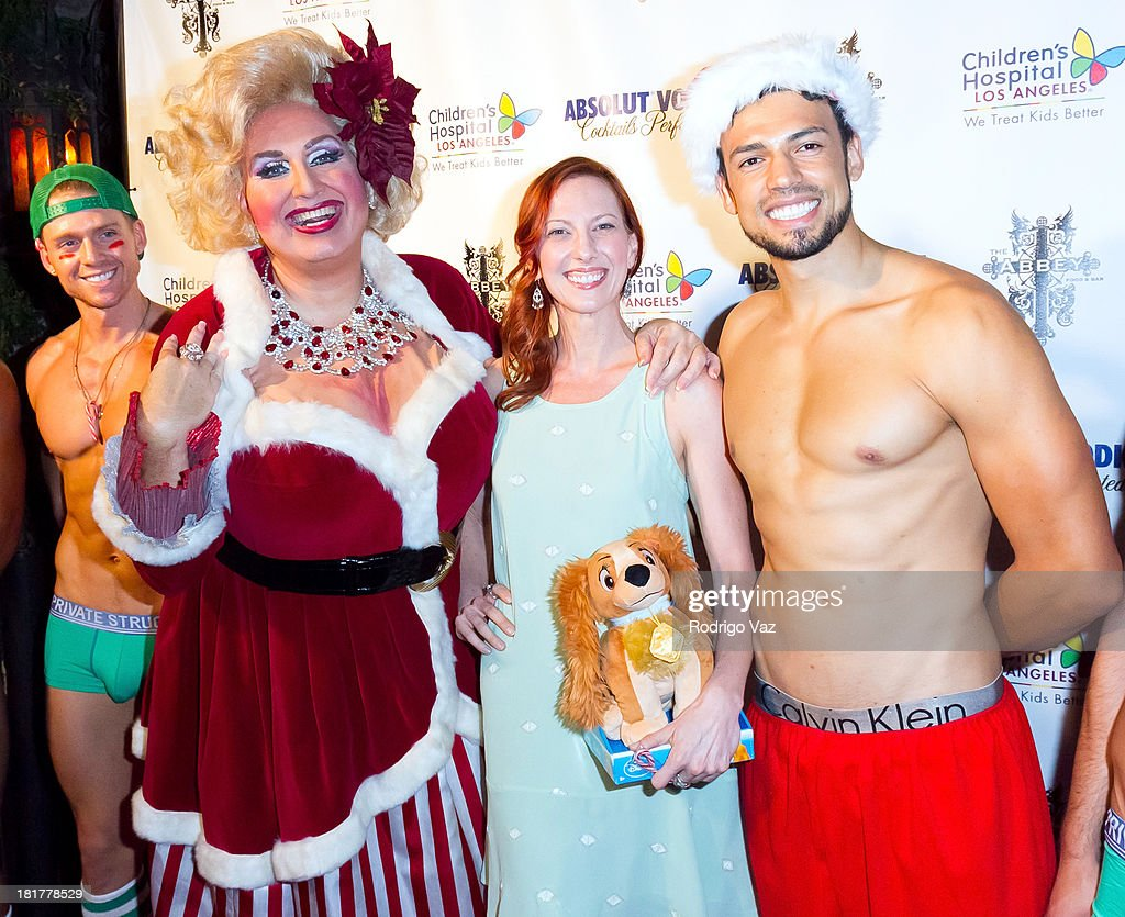 Drag queen Momma (Worthie Meacham) and author Camille Licate attend The Abbey's 8th annual Christmas In September Event benefiting The Children's Hospital Los Angeles at The Abbey on September 24, 2013 in West Hollywood, California.