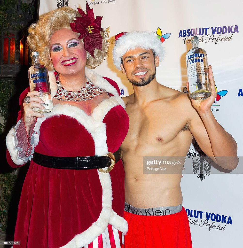 Drag queen Momma (Worthie Meacham) (L) attends The Abbey's 8th annual Christmas In September Event benefiting The Children's Hospital Los Angeles at The Abbey on September 24, 2013 in West Hollywood, California.