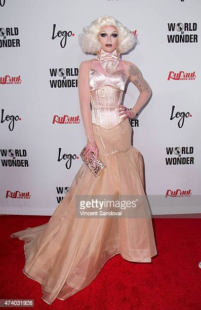 Drag queen Pearl liaison attends Logo TV's 'RuPaul's Drag Race' season finale event at Orpheum Theatre on May 19 2015 in Los Angeles California