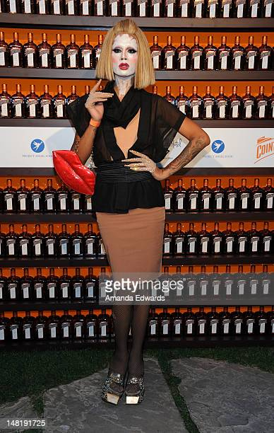Drag Queen Raja arrives at the Dita Von Teese and Cointreau Launch Cointreau Poolside Soirees event at the Beverly Hills Hotel on July 11 2012 in...