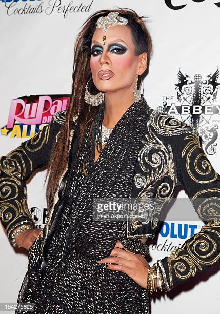 Drag queen Raja attends the premiere of Logo TV's 'RuPaul's Drag Race All Stars' at The Abbey on October 16 2012 in West Hollywood California