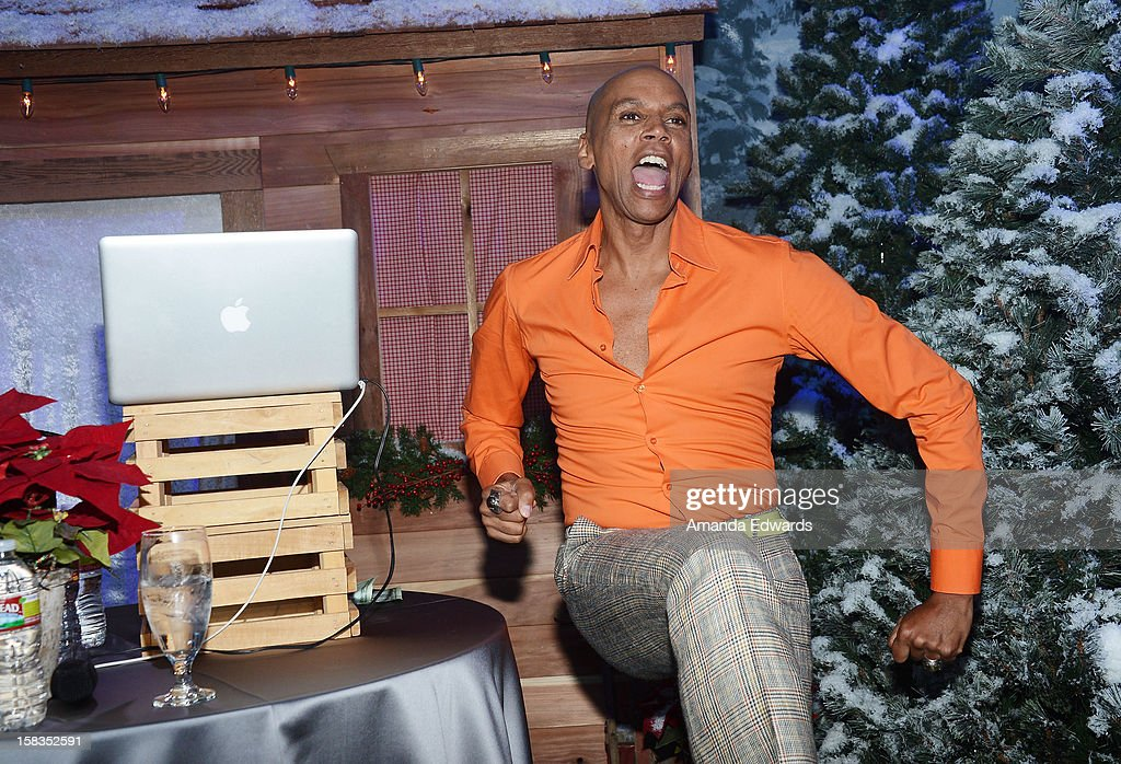 Drag queen RuPaul attends the World Of Wonder book release party/birthday bash at The Globe Theatre at Universal Studios on December 13, 2012 in Universal City, California.