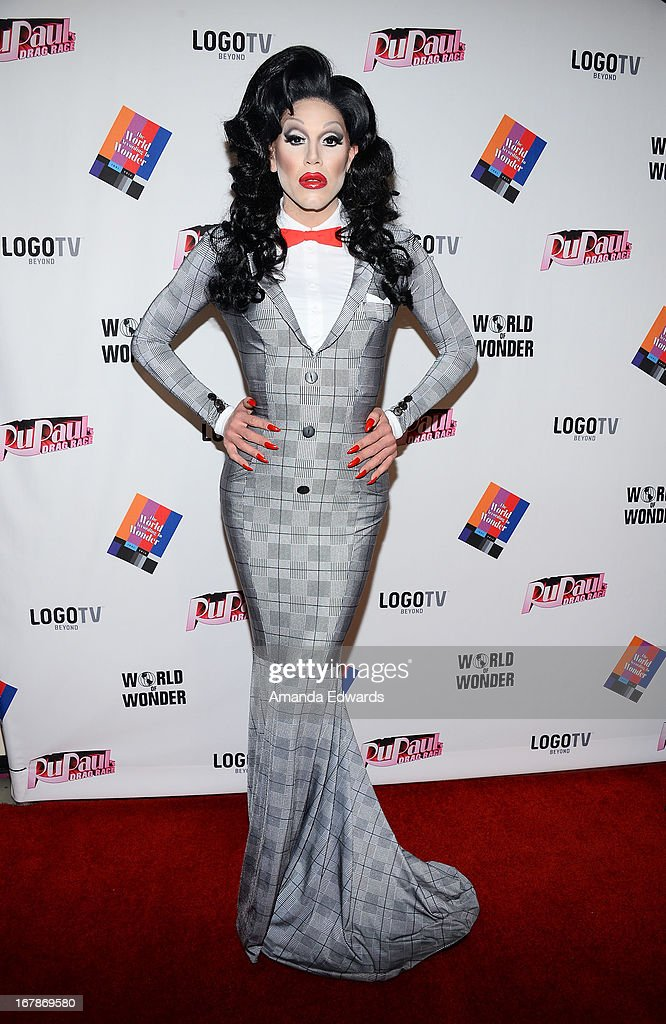 Drag queen Sharon Needles arrives at 'Rupaul's Drag Race' Season 5 Finale, Reunion & Coronation Taping on May 1, 2013 in North Hollywood, California.