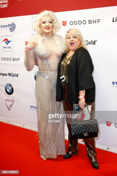 Drag Queen Sheila Wolf and Betty Amrhein attend the Victress Awards Gala on May 8 2017 in Berlin Germany