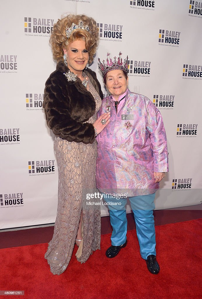 Drag Queen Twinkle Montgomery (L) and empress Wendy attend the Bailey House's 2014 Gala & Auction at Pier 60 on March 27, 2014 in New York City.