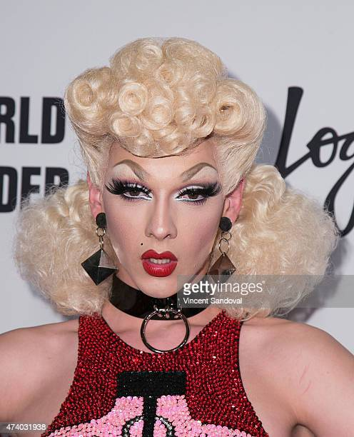 Drag queen Violet Chachki attends Logo TV's 'RuPaul's Drag Race' season finale event at Orpheum Theatre on May 19 2015 in Los Angeles California