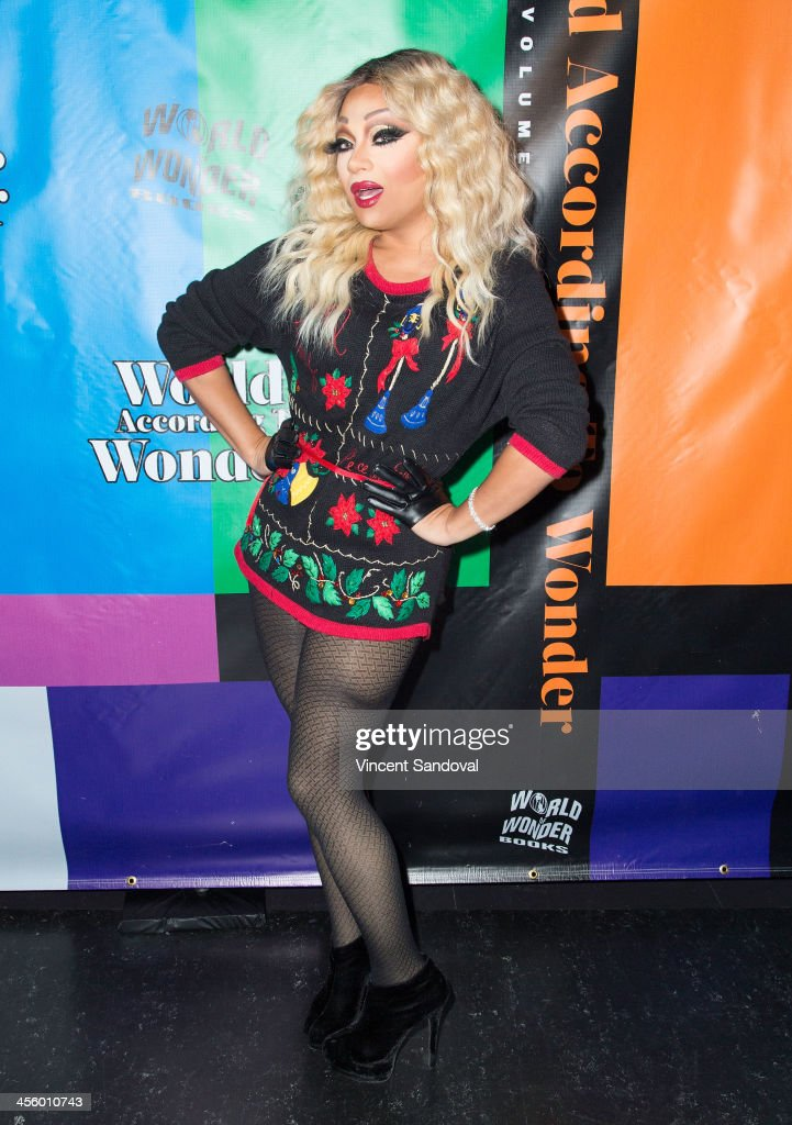 Drag queen Vivienne Pinay attends the World of Wonder's 1st Annual WOWie Awards at The Globe Theatre on December 12, 2013 in Universal City, California.