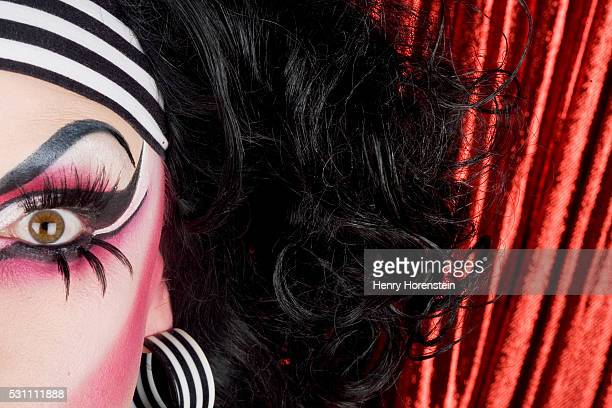 Drag Queen Wearing Stage Makeup