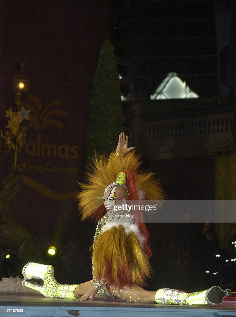 A drag queens onstage at the Drag Queen Gala at Las Palmas Carnival 2014 on March 7, 2014 in Las Palmas de Gran Canaria, Spain. Las Palmas Carnival in the Canary Islands, which lasts 20 days, attracts thousands of tourists from around the world.