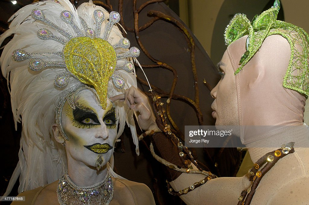 Drag queens prepares to go onstage at the Drag Queen Gala at Las Palmas Carnival 2014 on March 7, 2014 in Las Palmas de Gran Canaria, Spain. Las Palmas Carnival in the Canary Islands, which lasts 20 days, attracts thousands of tourists from around the world.