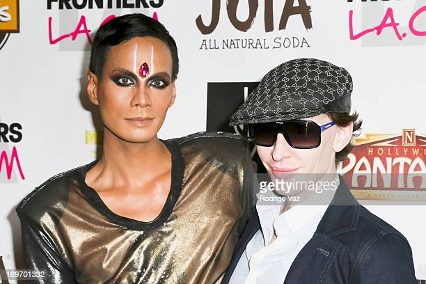 Drag queens Raja and Detox attend the opening night of 'Priscilla Queen Of The Desert' Arrivals at the Pantages Theatre on May 30 2013 in Hollywood...