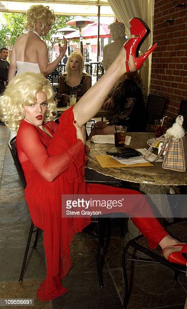 Drag Queens vying for a role in the new Anna Nicole Smith movie prepare for auditions