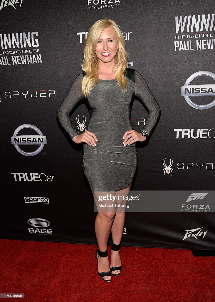Drag racer <a gi-track='captionPersonalityLinkClicked' href=/galleries/search?phrase=Courtney+Force&family=editorial&specificpeople=8957288 ng-click='$event.stopPropagation()'>Courtney Force</a> attends a charity screening of the film 'WINNING: The Racing Life Of Paul Newman' at the El Capitan Theatre on April 16, 2015 in Hollywood, California.
