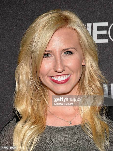 Drag racer Courtney Force attends a charity screening of the film 'WINNING The Racing Life Of Paul Newman' at the El Capitan Theatre on April 16 2015...