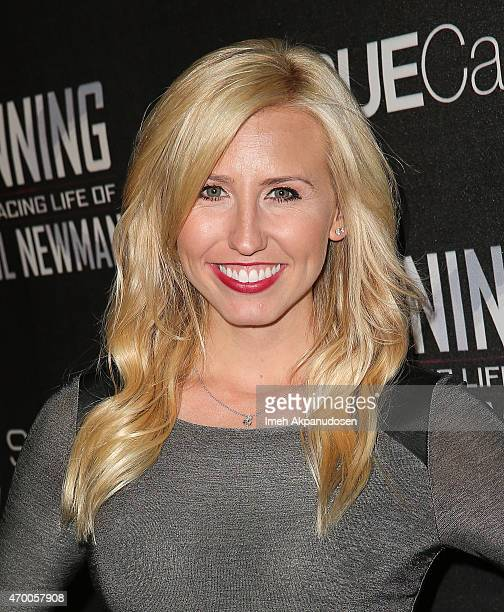 Drag racer Courtney Force attends the charity screening of 'WINNING The Racing Life Of Paul Newman' at the El Capitan Theatre on April 16 2015 in...
