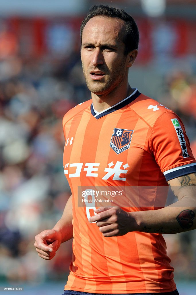 Dragan Mrdja of Omiya Ardija looks on during the J.League match between Omiya Ardija and Kashima Antlers at Nack 5 Stadium Omiya on April 30, 2016 in Saitama, Japan.