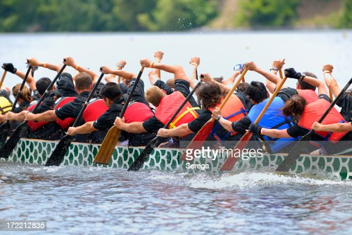 Dragon boat race crew