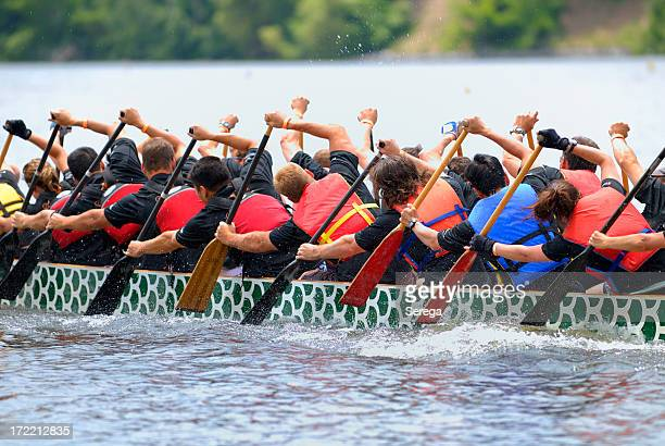Course de Dragon boat crew