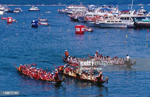 Dragon boat races at Stanley Beach.