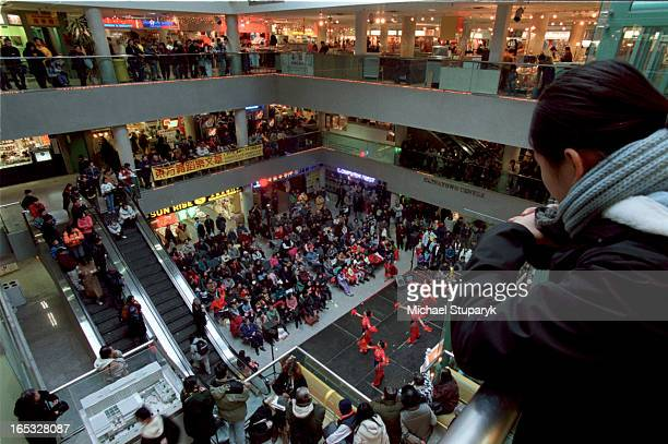 Dragon City section of Spadina Chinatown Centre at 222 SpadinaEntertainment on stage various views of the activitiesalso some views of the mall with...