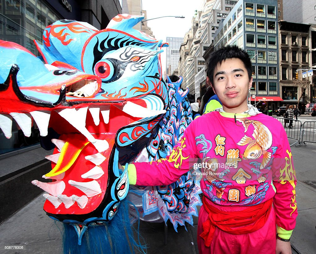 Dragon dancer at Madison Street To Madison Avenue Lunar New Year Celebration on February 6, 2016 in New York City.